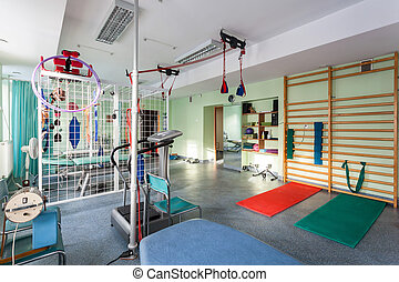 Empty room at physiotherapy clinic