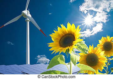Solar and wind energy for clean environment