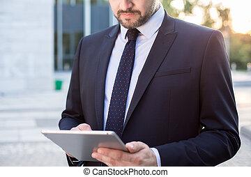 Enterpreneur using laptop