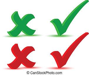 EPS 10 Vector Illustration of Check marks