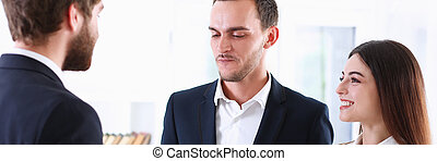 Escort service interpreter works with the