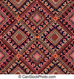 ethnic abstract hand-drawn seamless pattern