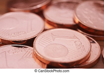 pile of euro cents
