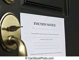 Eviction Notice Letter on Door