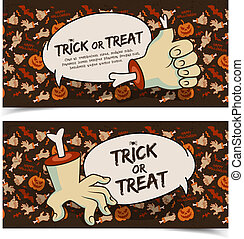 Evil Halloween Horizontal Banners