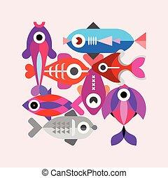 Exotic Fish vector illustration