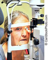 Eye examination.