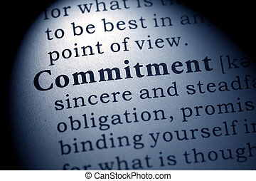 Fake Dictionary, Dictionary definition of the word commitment.