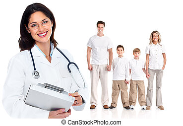 Family doctor woman. Health care.