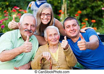 Family Visit in the Nursing Home