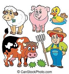 Farm cartoons collection - vector illustration.