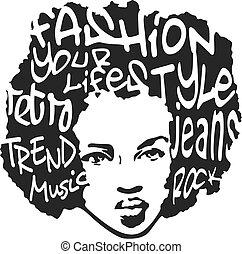 fashion man pop art design