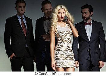 Fashionable shot of bold and beautiful friends