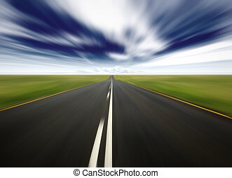 country road in speed