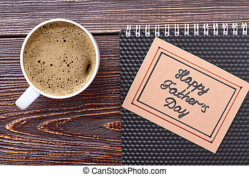 Father's Day card and coffee.