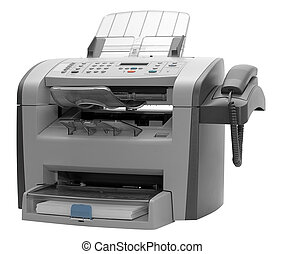 Fax machine isolated