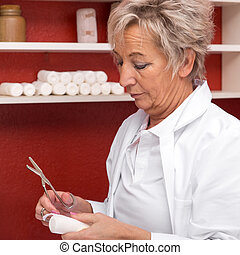 female doctor in her office