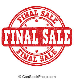 Final sale grunge rubber stamp on white, vector illustration