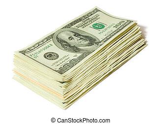 finances concept. pile of money