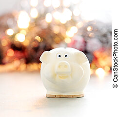 Money box on the table