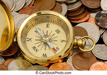 Compass and Money - Money Concept