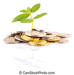 Concept image of financial growth