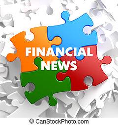 Financial News on Multicolor Puzzle.