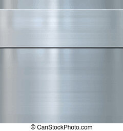 very finely brushed steel metal background texture with panel