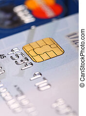fine image of credit card detail and selective focus