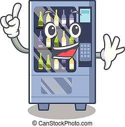 Finger wine vending machine mascot shaped character