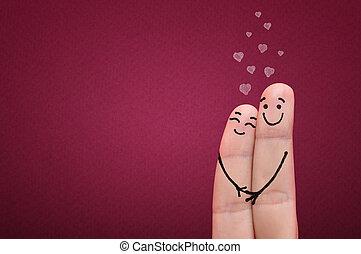 Fingers in love.