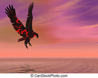 Fire Eagle Hovering