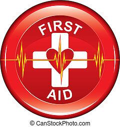 First Aid Heart Health Button