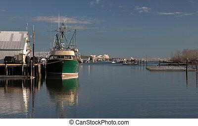 Fishing Trawler at the Pier