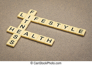 fitness, lifestyle and health crossword