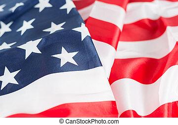 Closeup of the flag united states