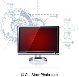 Flat Computer LED LCD Monitor