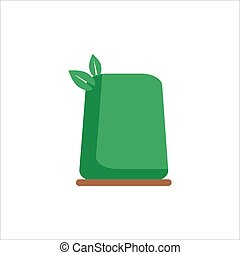 Flat icon Bush on a white background. Element for ecology or nature logo. Vector illustration