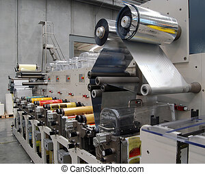 UV flexo press for printing label. Flexography (also called surface printing), often abbreviated to flexo, is a method of printing most commonly used for packaging (labels, tape, bags, boxes, banners. A flexographic print is made by creating a positive mirrored master of the required image as a 3D ...