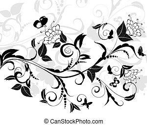 flowering pattern of a butterfly
