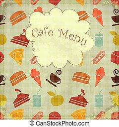 food seamless - Menu cover