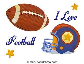 I love football Design