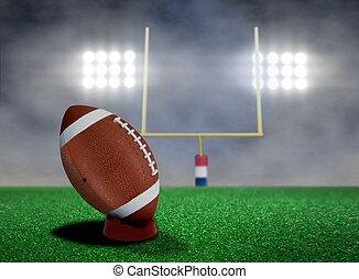 Football Free Kick with Spotlights