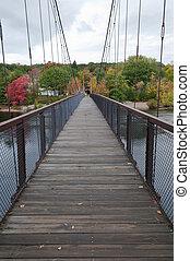 Footbridge across the Androscoggin River, Brunswick, Maine