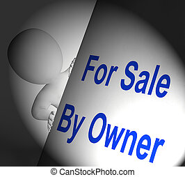 For Sale By Owner Sign Displays Listing And Selling