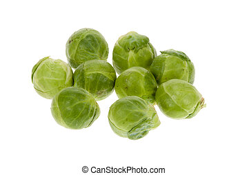 fresh brussels sprout isolated on a white background