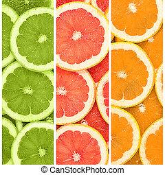 Fresh grapefruit as a background