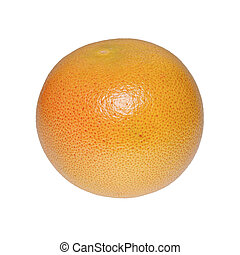 Fresh grapefruit on a white background