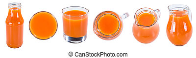 Fresh made Carrot Juice isolated on white