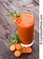 Fresh made Carrot Juice